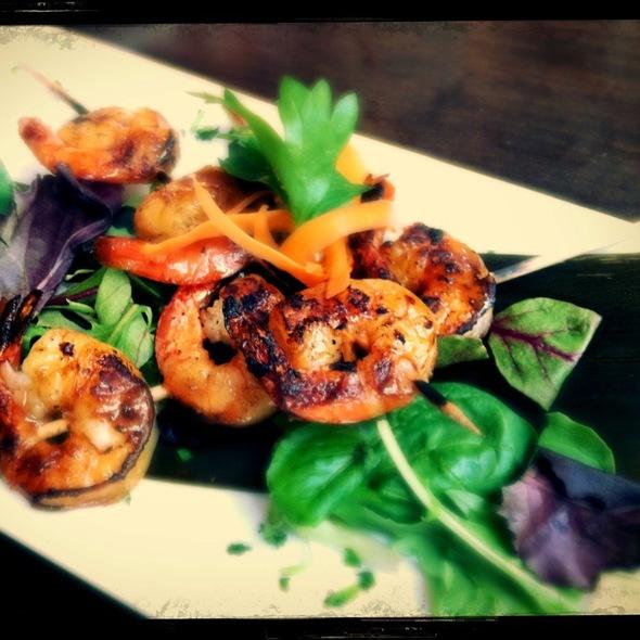 Rum Glazed Shrimp Skewers - Zafra Cuban Restaurant & Rum Bar, New Haven, CT