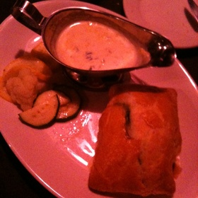 Salmon In Puff Pastry With Basil-Cream Sauce - The Earle, Ann Arbor, MI