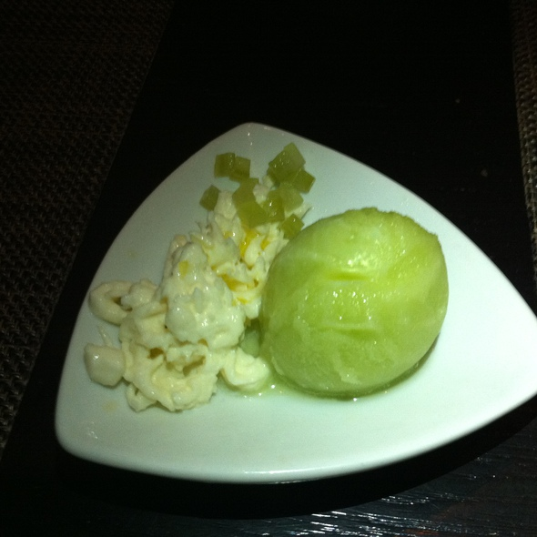 Celery-Apple Sorbet - Craigie on Main, Cambridge, MA