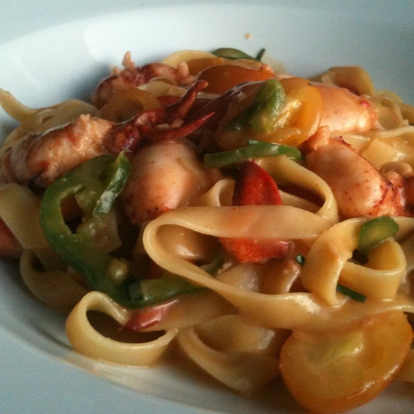 Lobster Tagliatelle - Navy Beach, Montauk, NY