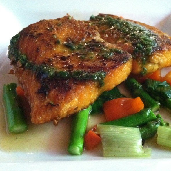 Salmon With Ginger Crust And Lemongrass Sauce - Le Colonial NYC, New York, NY