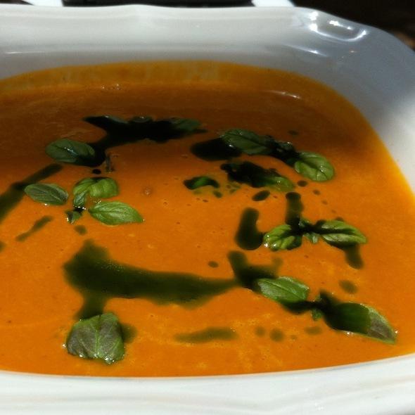 Tomato Basil Soup - Restaurant Eve, Alexandria, VA