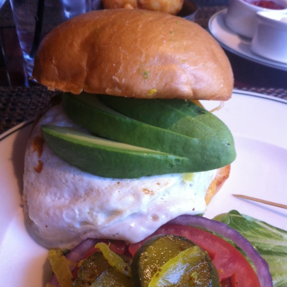 Cheeseburger With Fried Egg And Avocado - The Henry - The Cosmopolitan of Las Vegas, Las Vegas, NV