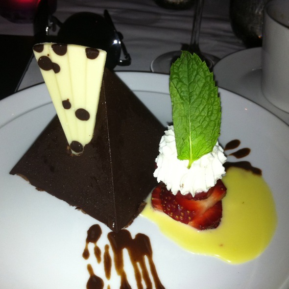 Chocolate Ganache With Creme Anglaise - Central Park Bistro, San Mateo, CA