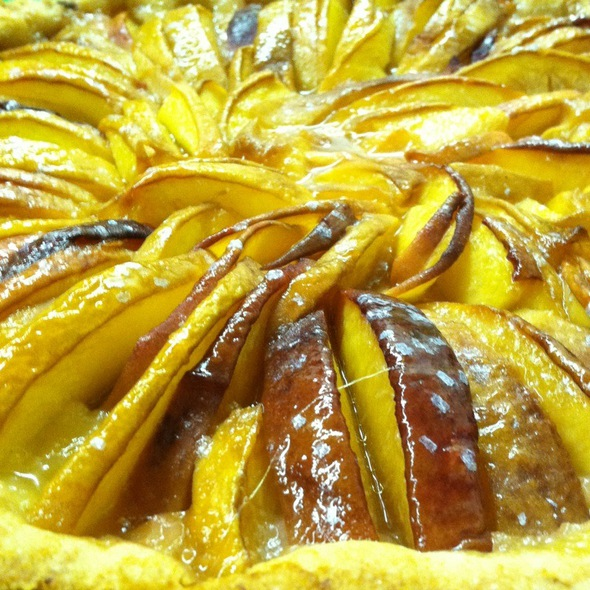 Jersey Fresh Peach Tart - Via 45, Red Bank, NJ