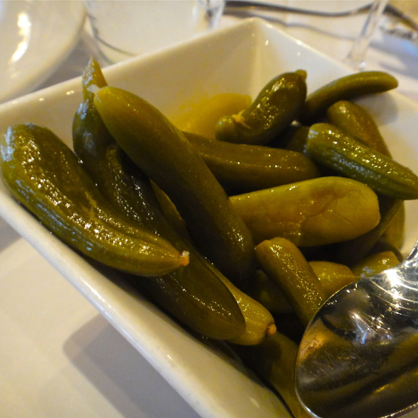 Housemade Spicy Baby Pickles - Maykadeh, San Francisco, CA