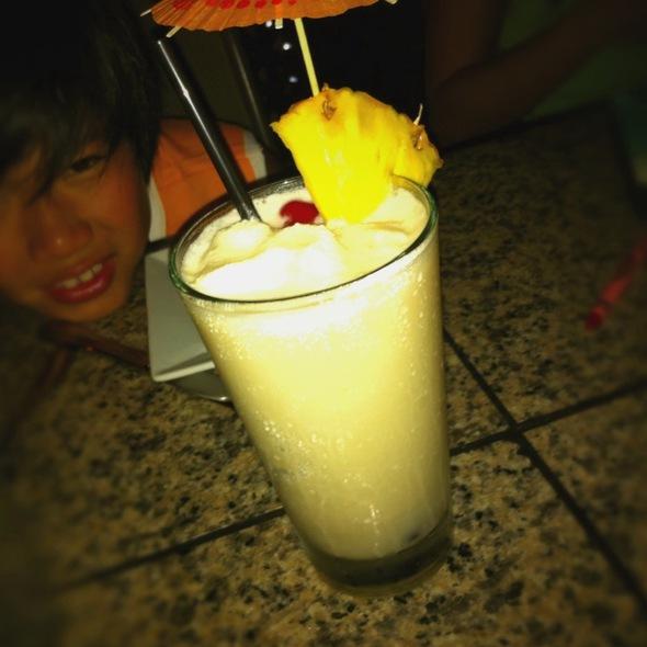 Virgin Pina Colada - Three's Bar & Grill, Kihei, HI
