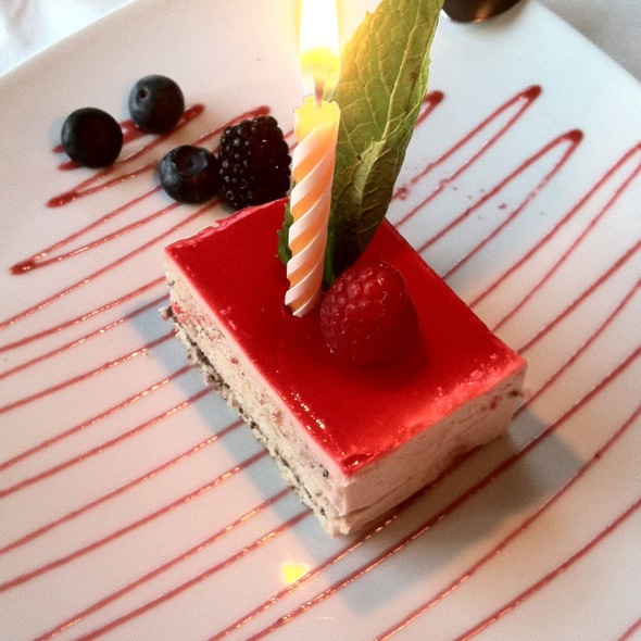 Strawberry Duet Cake (Special For Birthdays) - Arya Global Cuisine, Cupertino, CA