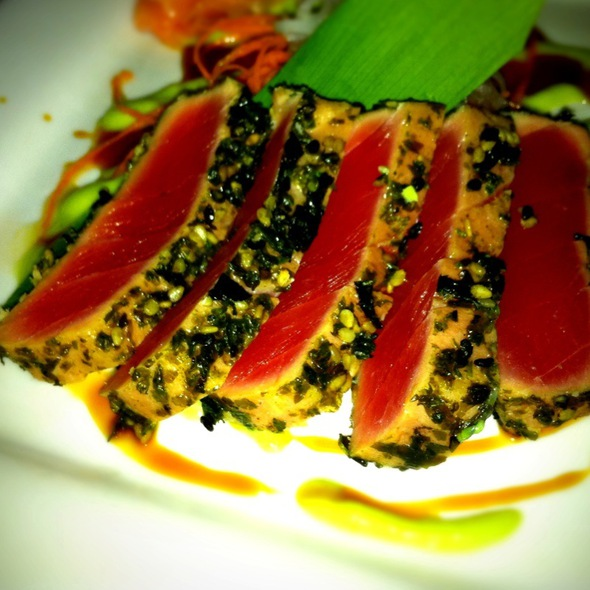 Furikake Seared Ahi Salmon - Three's Bar & Grill, Kihei, HI