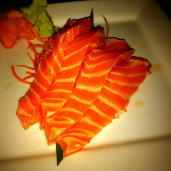 Salmon Sashimi - Three's Bar & Grill, Kihei, HI