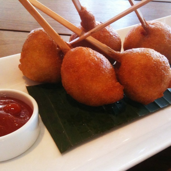 Lobster Corn Dogs - Tommy Bahama Laguna Beach Bar & Grill, Laguna Beach, CA