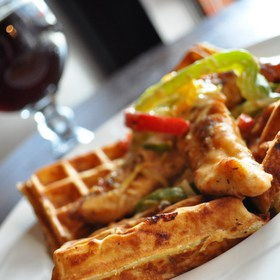 Chicken and Waffles - Bastone Brewery, Royal Oak, MI