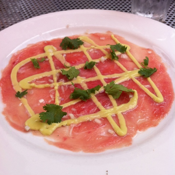 ahi tuna carpaccio - La Bottega - Vail, Vail, CO