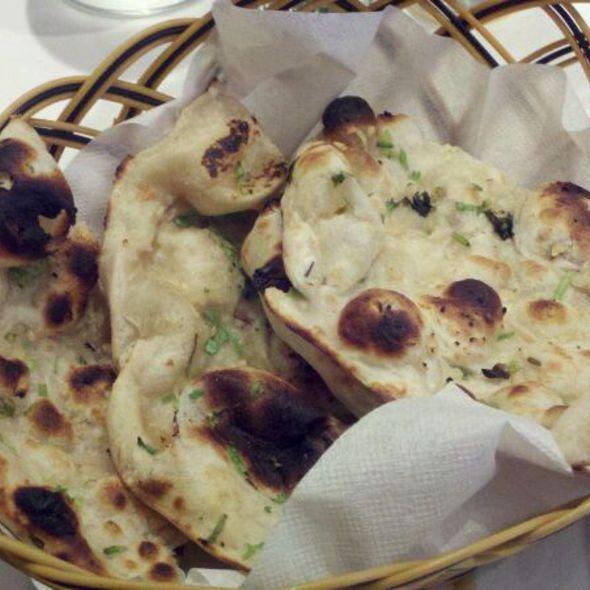 garlic naan - OM Real Indian Food, New York, NY