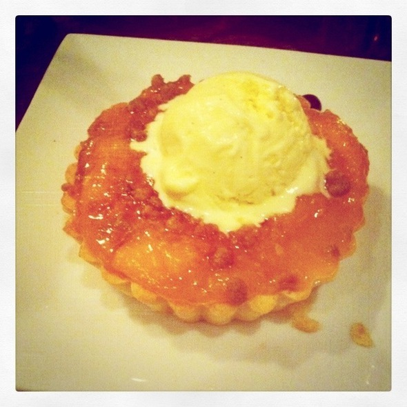 Peach Tart & Cardamom Ice Cream - Lotus Farm to Table, Media, PA