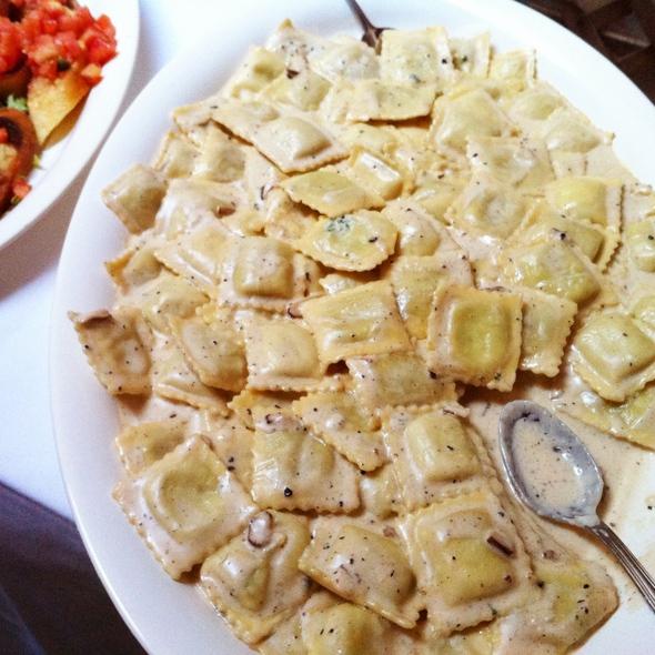 Raviolis with Parmesan - Trattoria Belvedere, New York, NY