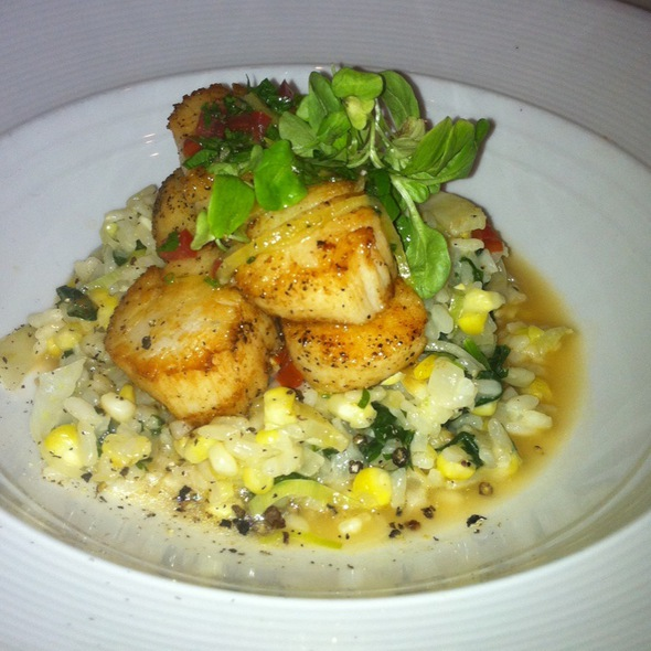 Seared Scallops With Risotto - Oro, Scituate, MA