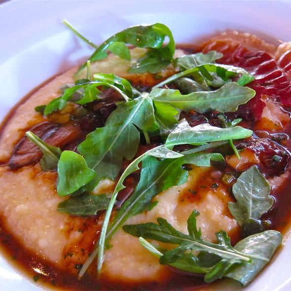 Porcini Polenta w/prosciutto crisp - Redd, Yountville, CA