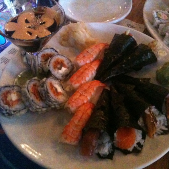 Happy Hour Hand Rolls, Shrimp Nigiri And Naninay Roll - Japango Sushi Restaurant, Boulder, CO