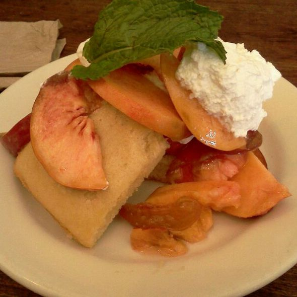 Peaches, Cake, And Chantilly Cream - Nizza La Bella, Albany, CA
