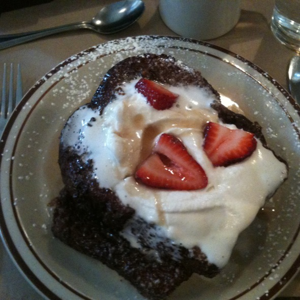 French Toast w/ Fresh Strawberries - Beehive, Boston, MA