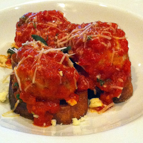 chicken meatballs - Ristorante Fiore, Boston, MA