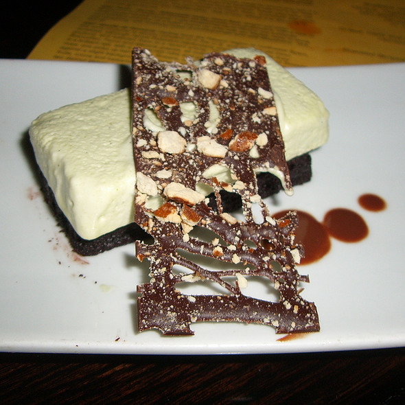 Chocolate cake with mint semifredo and chocolate pretzel - Nectar - Philadelphia, Berwyn, PA