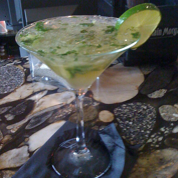 Cucumber Basil Martini - Coast Guard House, Narragansett, RI