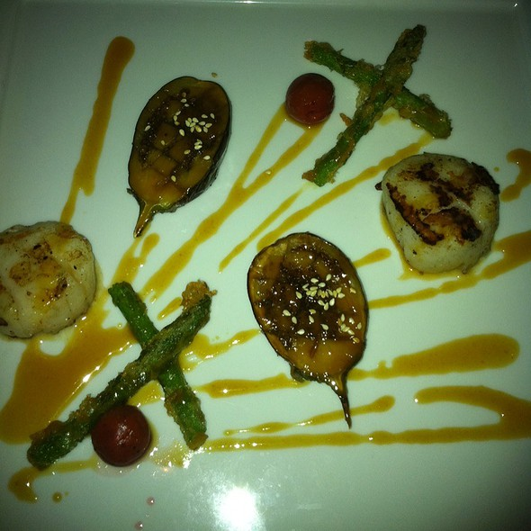 Scallops With Eggplant Appetizer - Hoku's, Honolulu, HI