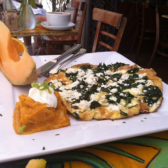 Goat Cheese And Spinach Frittata  - Cafe Verona, Los Angeles, CA