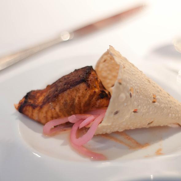 salmon papadum roll - at Vermilion, New York, NY