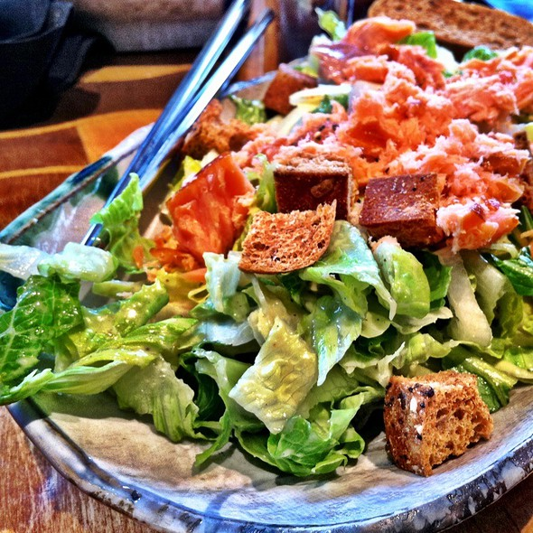 Wasabi Caesar Salad With Wild Smoked Salmon - Samovar Tea Lounge - Mission/Castro, San Francisco, CA