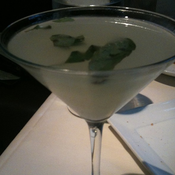 Yuzu Thai Basil Gin Martini - Harvest, Cambridge, MA