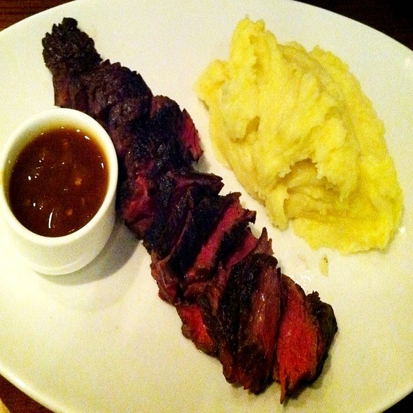 Hanger Steak W/ Soy Pineapple Sauce & Mashed Potatoes  - E&E Grill House, New York, NY