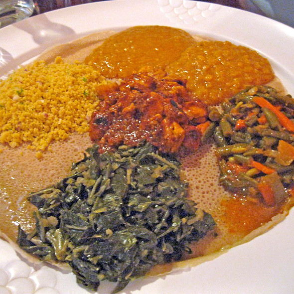 Vegan Sampler - Mesob Ethiopian Restaurant, Montclair, NJ