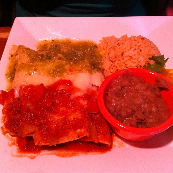 Mexican Flag Enchiladas - Jose's Mexican Restaurant, Cambridge, MA