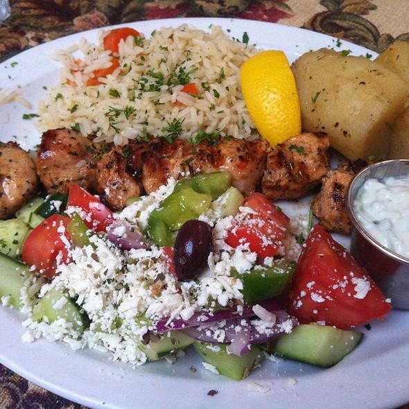 Chicken Souvlaki Platter - Maria's Taverna, Vancouver, BC