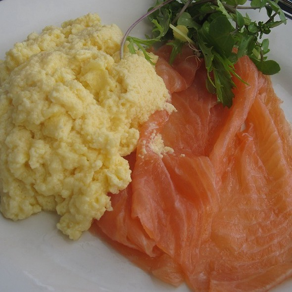 Smoked Salmon And Scrambled Eggs - Butlers Wharf Chop House Restaurant, London