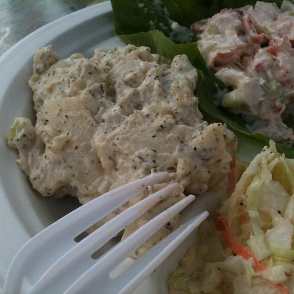 Lobstet roll salad - Duryea's Lobster Deck, Montauk, NY