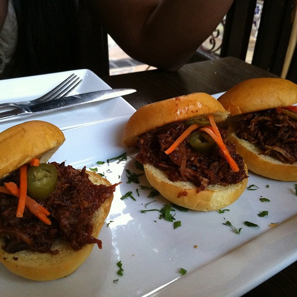 Spice Braised Pork Belly Sliders - Steingarten LA, Los Angeles, CA