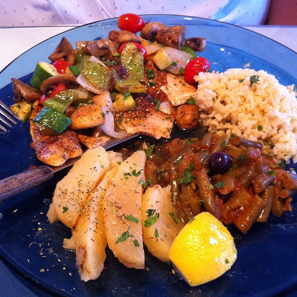 Grilled Tilapia - Santorini Greek Kitchen, Indianapolis, IN