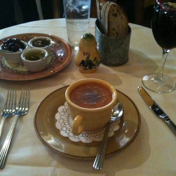 Cold Tomato Soup - La Mangeoire, New York, NY