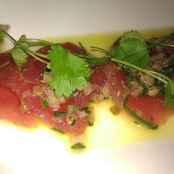 Raw Tuna with Sicilian Relish and White Shoyu - Osteria I Nonni, Lilydale, MN