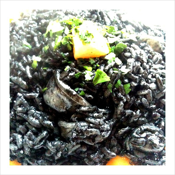 Squid Ink Risotto - La Briciola, San Francisco, CA
