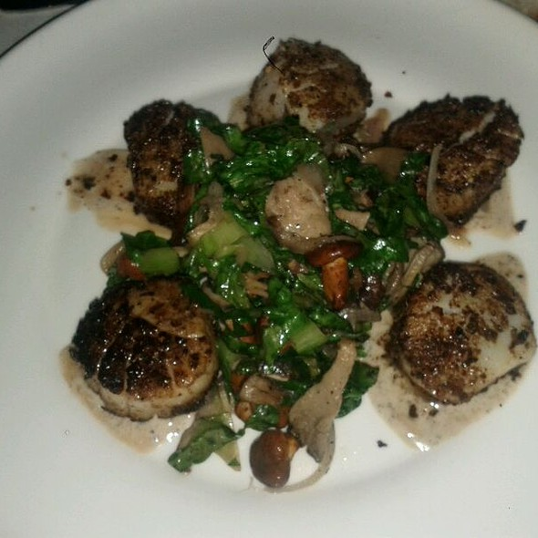 Porcini Dusted Diver Scallops with Escarole - Nick & Toni's Cafe Manhattan, New York, NY