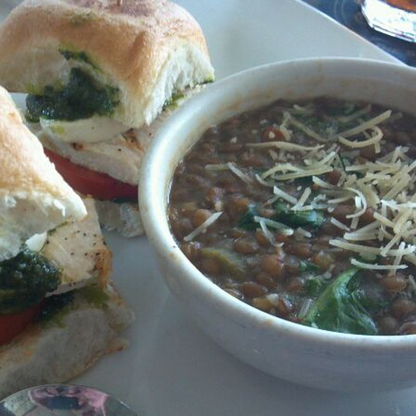 Chicken Caprese Sliders with Lentil Soup - The Union Kitchen (Bellaire), Houston, TX