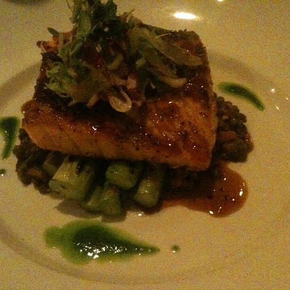 Salmon With Lentils And Asparagus - Bleu Olive, Durham, NC