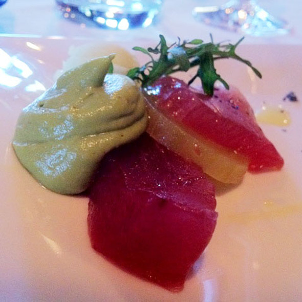 Tuna Crudo - The Glitretind Restaurant at Stein Eriksen Lodge, Park City, UT
