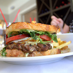 Open Face Cheeseburger - Boulevard Bistro, Elk Grove, CA