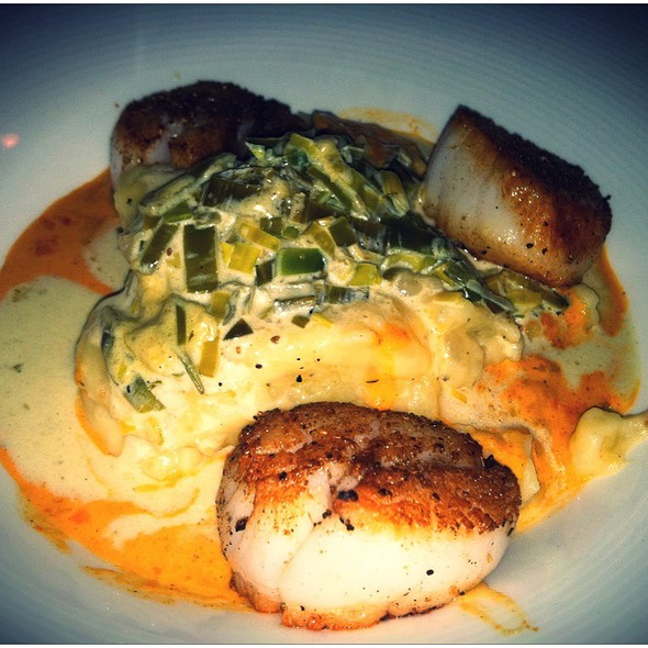 Spice Crusted Pan Seared Jumbo Sea Scallops - Open Kitchen, Falls Church, VA
